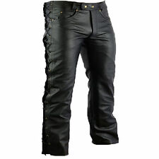 lederhosel moto custom Hachoir TOURING 5 poches cuir pantalon, hachoir pantalon