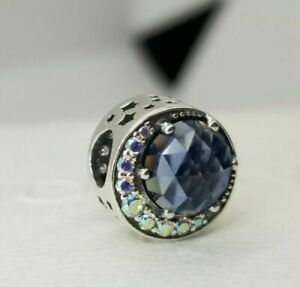 Genuine PANDORA Sterling Silver MOON and NIGHT SKY Charm 798524CZ S925 ALE