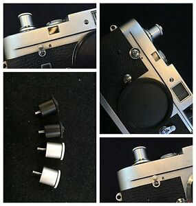Shutter button release for Leica M1 M2 M3 M4 Camera Silver Made in Japan