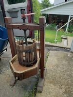 Antique Wine/Fruit/Cider Press - Iron, Wood  & Copper