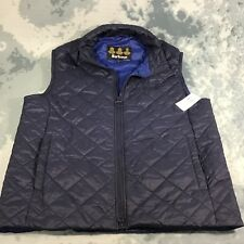 Barbour Gilet Keelson Quilted Vest Men's Size Large L in Color Navy NWMT