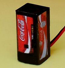 N Scale Lighted Coke Vending Machine 1/160 Illuminated
