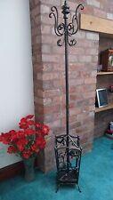 Antique Bronze Coat & Umbrella Stand Housing A Removable Drip Tray Also Cream
