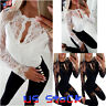 Sexy Women Lace Sleeve T-Shirt Fashion Ladies Summer Casual Blouse Tops Shirt US