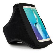 Black Sumaclife Gym Sport Armband Case for Samsung Galaxy J7 Prime / S6 Edge +