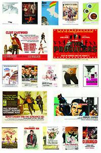 1960's Movie Posters Film Print Art Decor Gift Ideas Home Decor