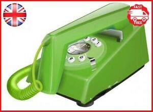 Geemarc Trimline Retro Style 2 Piece Corded Telephone - Green- UK Version