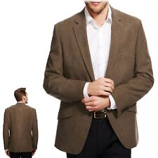 M&S Mens SUEDE EFFECT Regular Fit BLAZER JACKET ~ Size 40 Short ~ MOLE