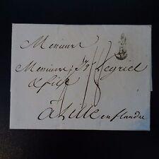 """1783 LETTRE COVER MARQUE POSTALE """"B"""" COURONNÉ BORDEAUX POUR LILLE"""