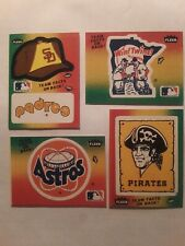 1983 Fleer Team Stickers TWINS,  PIRATES, ASTROS, PADRES #NNO