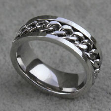 7mm Titanium Stainless Steel with rotating inner chain ring size 7  (spinner)