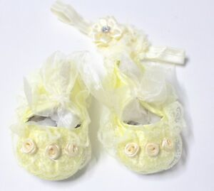 BABY GIRL SETS OF SHOES AND HEADBANDS FOR SPECIAL OCCASIONS