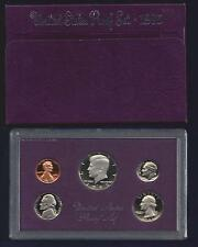 1985-S U.S. MINT PROOF SET...5 COINS...PURPLE BOX