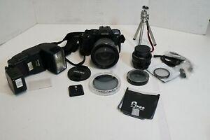 (S) Pentax MZ-S 35mm Film Camera - Extras Lenses Flash