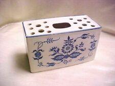 New listing Vintage Blue White Onion Pattern Rectangle Planter Box Vase Pottery Earthenware