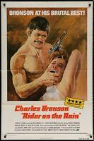 RIDER ON THE RAIN Charles Bronson 1970 1-SHEET MOVIE POSTER  27 x 41