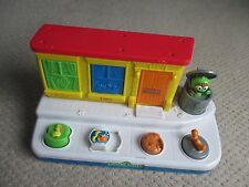 Sesame Street Pop Up Busy Box W Fun Sounds Toddler Toy Mattel 2004