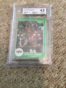 1985 Star Gatorade Slam Dunk #7 Michael Jordan Beckett 4.5 Basketball Card