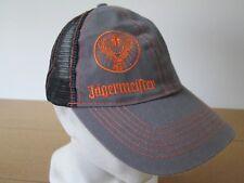 383529ffae819 Jagermeister Truckers Mesh Snapback Hat Cap Grey Orange