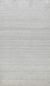 Moroccan Silver Gabbeh Multi Level Pile Oriental Area Rug Hand-Knotted WOOL 5x8