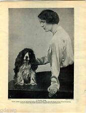 1930 Book Plate Print Cocker Spaniel Granville Soames Peter Lucky Star Lloyd