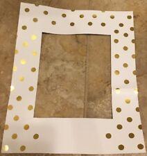"""New Pottery Barn Kids Gold Dot Frame Mat Insert 13"""" x 16"""""""