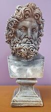 Greek Roman Art Zeus Bust Home Decor Sculpture Statue Antique Clearance