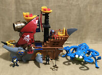 Lot of Fisher Price Imaginext Shark Bite Pirate Ship Sea Monster