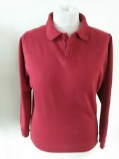JAMES PRINGLE SIZE SMALL RED COLLARED SWEATSHIRT