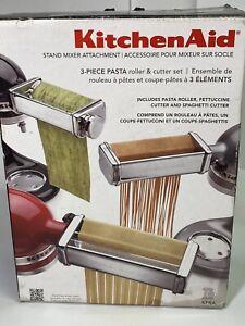 KitchenAid Kpra Pasta Roller Cutter Maker 3-piece Stand Mixer Attachment Set