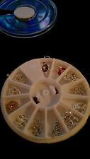 3D Nail Art Tips Decorazione Glitter/Strass/ruota in lega di gioielli +