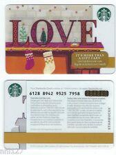 2016 Starbucks CANADA LOVE RELOADABLE GIFT CARD