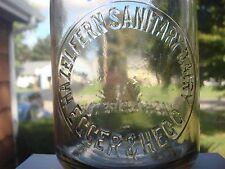 TREQ Milk Bottle Hazelfern Sanitary Dairy Egger & Hegg Portland OR CROWN TOP '28