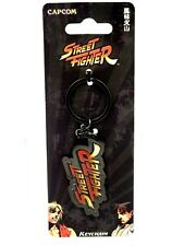 Keychain Key Ring Capcom Plate Logo Street Fighter Official New