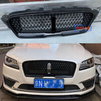 Front Bumper Upper Grille Gloss Black Vent Grill For Lincoln MKZ 2017-2018