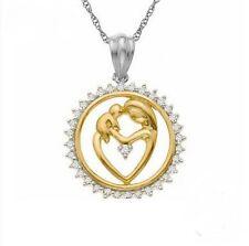 Echt 925-Sterling-silber Damen Hals-kette Anhänger Gold vergoldet Muttertag Neu