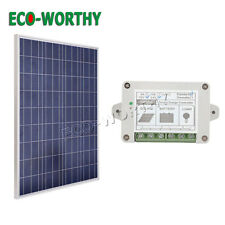 100W 12V SOLAR PANEL KIT W/ 15A CHARGE SOLAR CONTROLLER FOR HOME CAMPER POWER