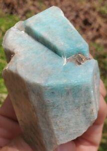 Amazonite with Quartz Crystal Rough Specimen Natural Crystals Colorado 6.5oz LRG
