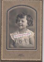Antique Photo/Folder-Very Cute Smiling Little Girl-Daniel Photographer