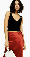 Topshop Black Knitted Ring Bralet - Size: Small