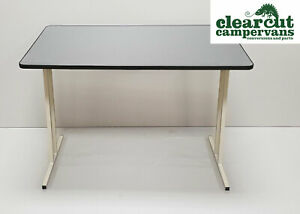 Motorhome/Campervan Free Standing, Folding Table, Carbon Finish 600 x 1000mm