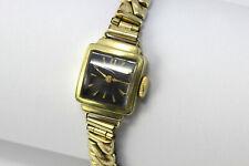 goldene alte 14 Karat Damenuhr Orfina 585 Gold Armbanduhr Art-déco Stil Uhr