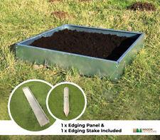 Galavized Steel Multipurpose Raised Bed Planter Edging Panels Garden Allotment