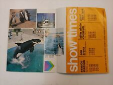 Marineworld Of The Pacific Vtg.70s Era Tourist Event Brochure