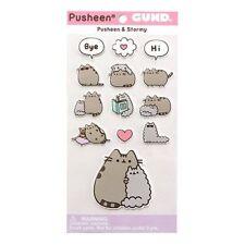 Gund NEW * Pusheen and Stormy Puffy Stickers * 13 Stickers Cat Kitten Tabby