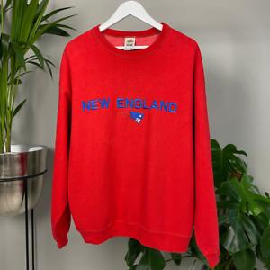 NFL New England Patriots Red Sweatshirt Men's XL