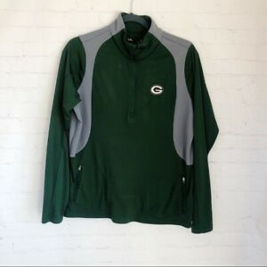 Antigua NFL Green Bay packers 1/4 zip pullover women's size large