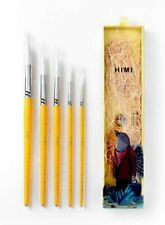 HIMI—Gouache/Watercolor Paint Brushes Set 5 Pcs for Acrylic Oil Watercolor Face