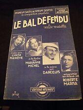 Partition Le bal défendu Mairève Darcelys Marna Scotto Music Sheet