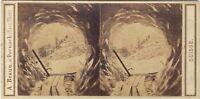 Suisse Ghiacciaio Grindelwald Foto A. Braun Stereo Vintage Albumina Ca 1860